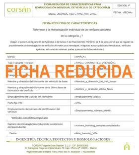 Ficha Tecnica Reducida - Corsan Ingenieria